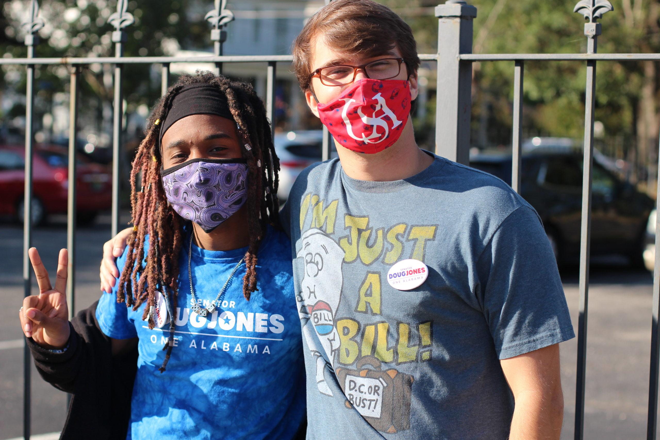 Volunteers at Doug Jones Day of Action